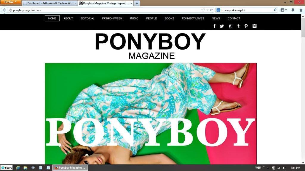 Ponyboy Magazine NYC