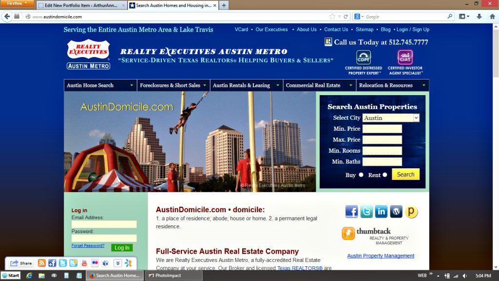 Realty Executives Austin Metro Website