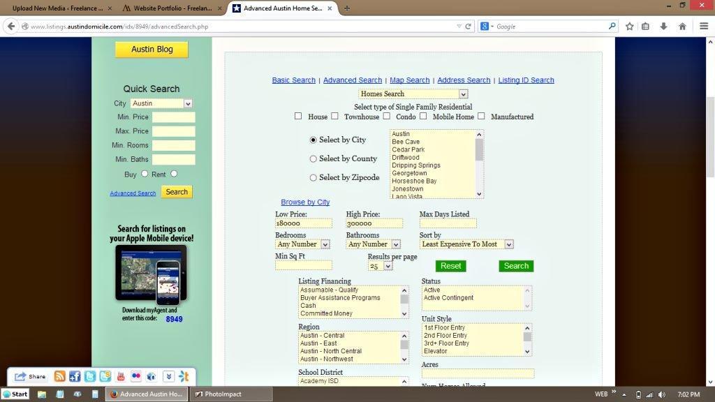 Advanced IDX MLS Real Estate Search