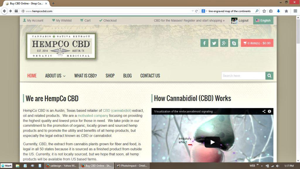 HempCo CBD Website Screenshot