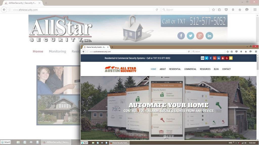 Austin All Star Security WordPress Redesign