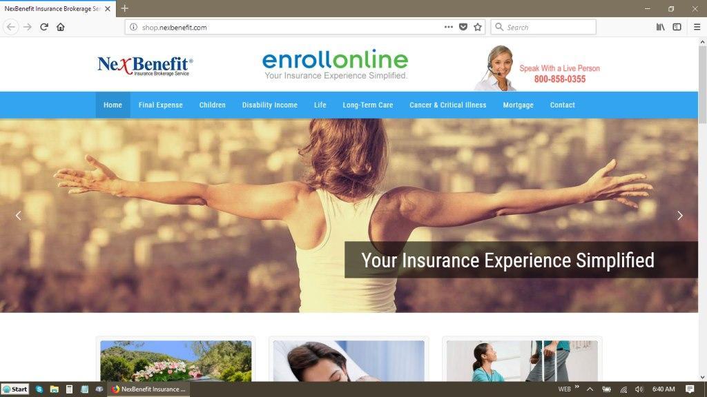 NexBenefit Insurance Brokerage Website Redesign