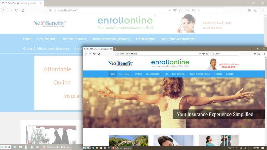 Quick Website Redesign For NexBenefit Insurance Brokerage Service